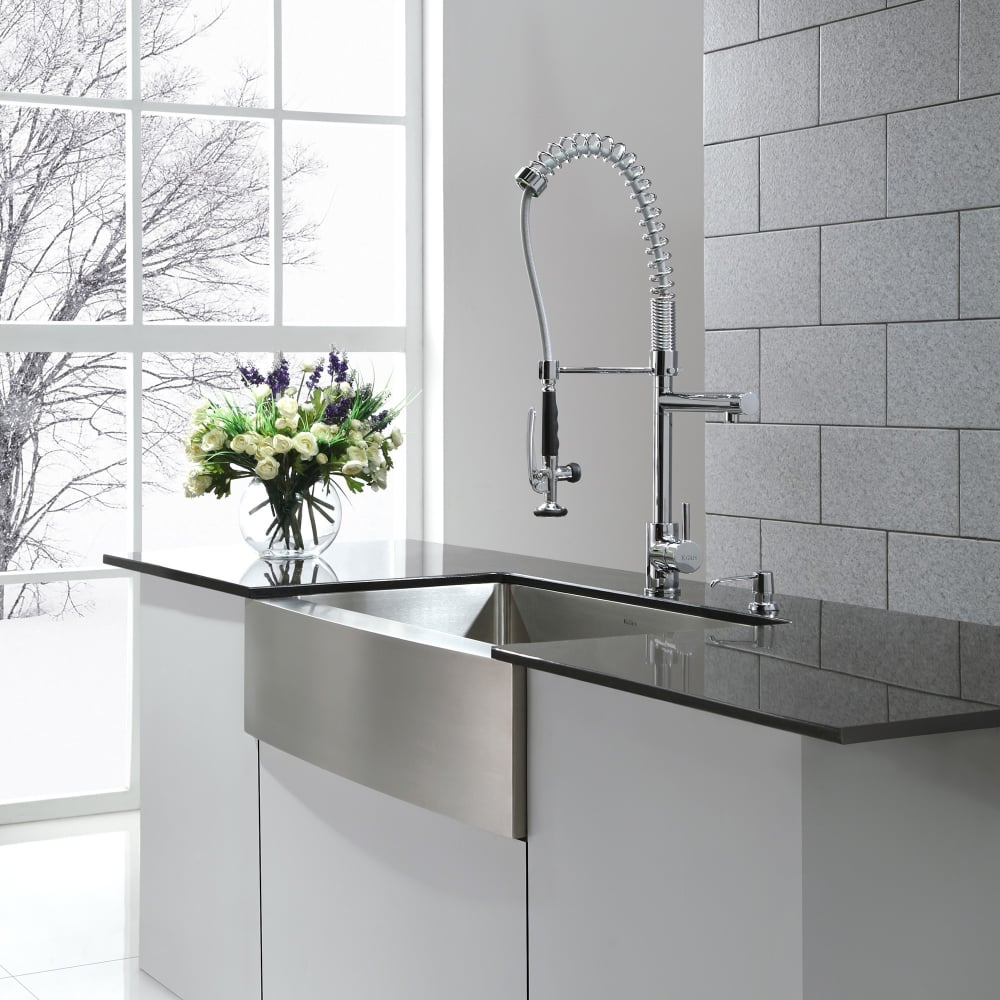 Kraus Kitchen Faucet Series KPF1602KSD30CH