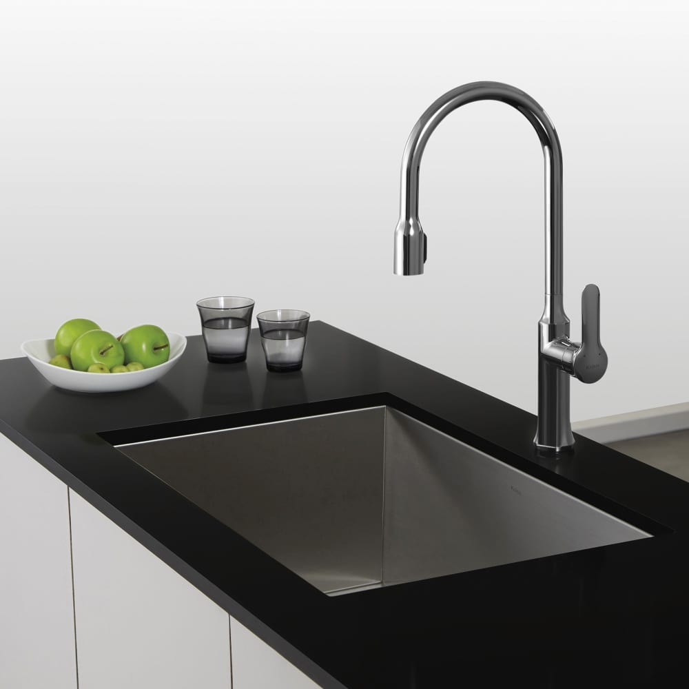 Kraus KPF1660CH Single Lever Concealed Pull Down Kitchen Faucet with ...
