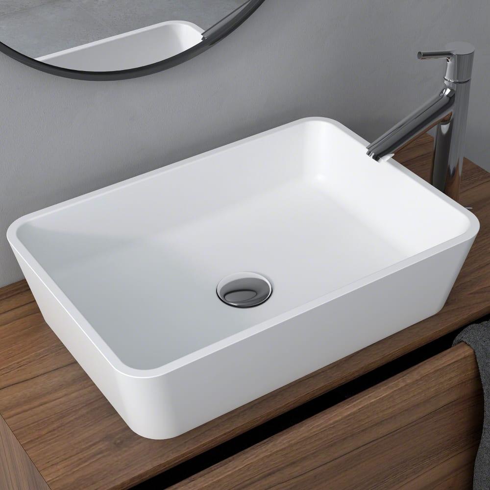 Kraus Ksv2mw Rectangle Vessel Bathroom Sink With Nano