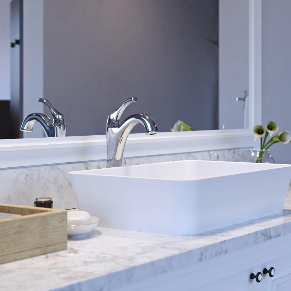 Kraus KVF1200CH Single Handle Bathroom Vessel Faucet with Rust ...