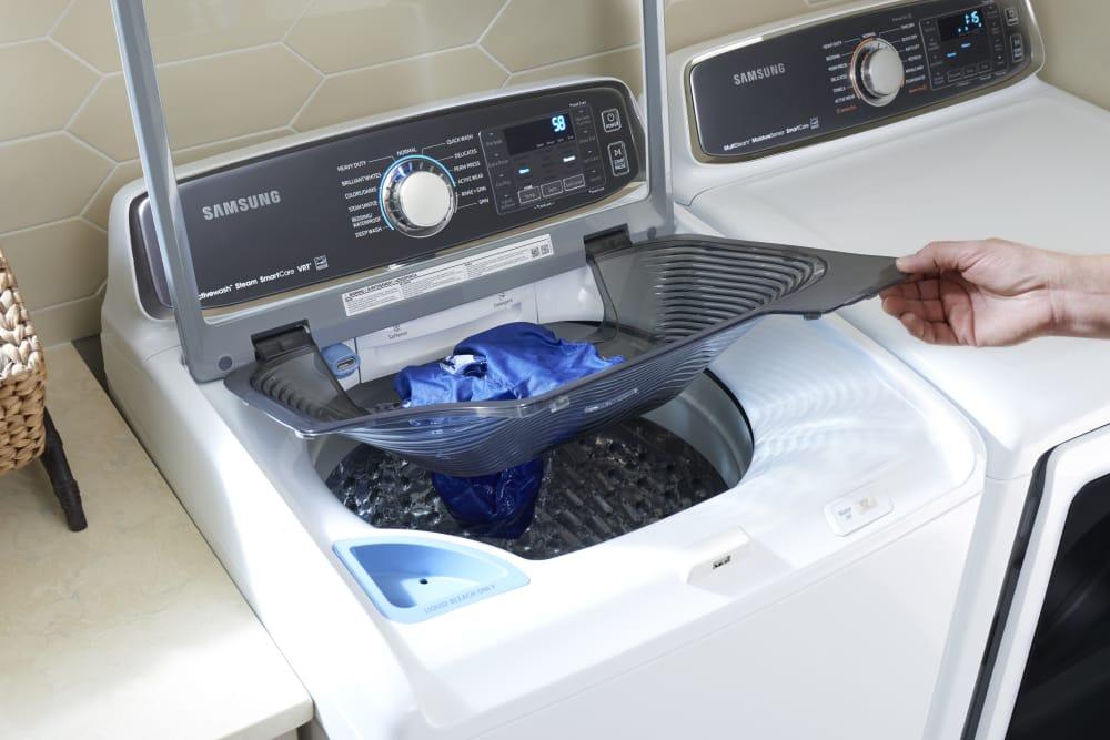 samsung dvg52m7750w 27 inch gas dryer with multi steam wrinkle prevent option sensor dry. Black Bedroom Furniture Sets. Home Design Ideas