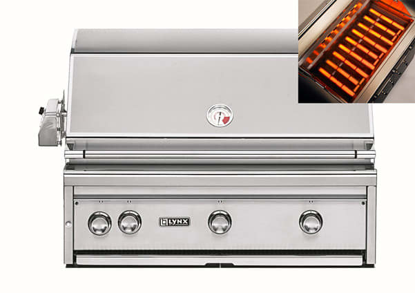 Lynx L36ASRNG 36 Inch Built-in Gas Grill With 935 Sq. In
