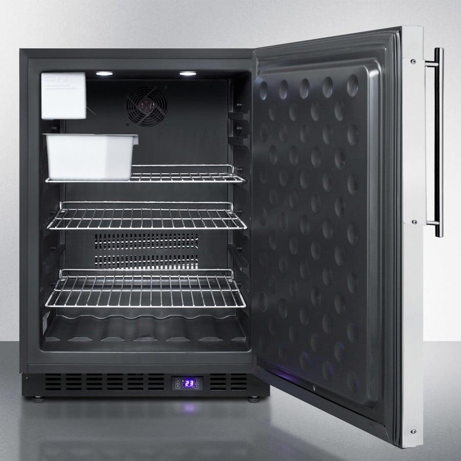 Summit SCFF53BFRIM 24 Inch Undercounter Freezer with Adjustable ...