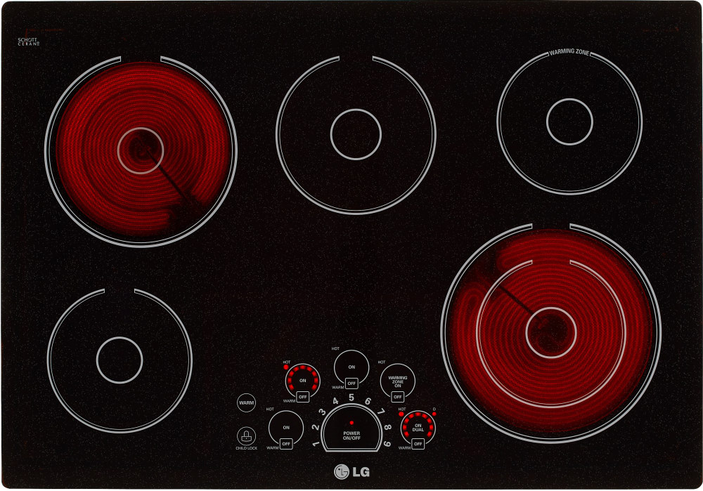 Lg Lce3010sb 30 Inch Smoothtop Electric Cooktop With
