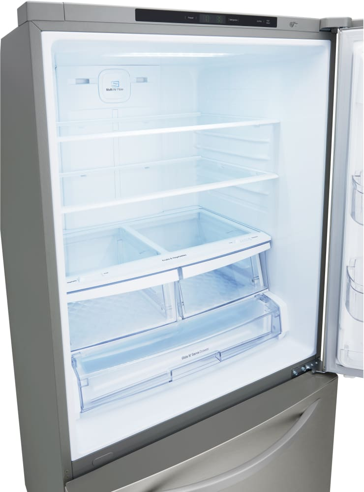 Lg Ldcs24223s 33 Inch Bottom Freezer Refrigerator With