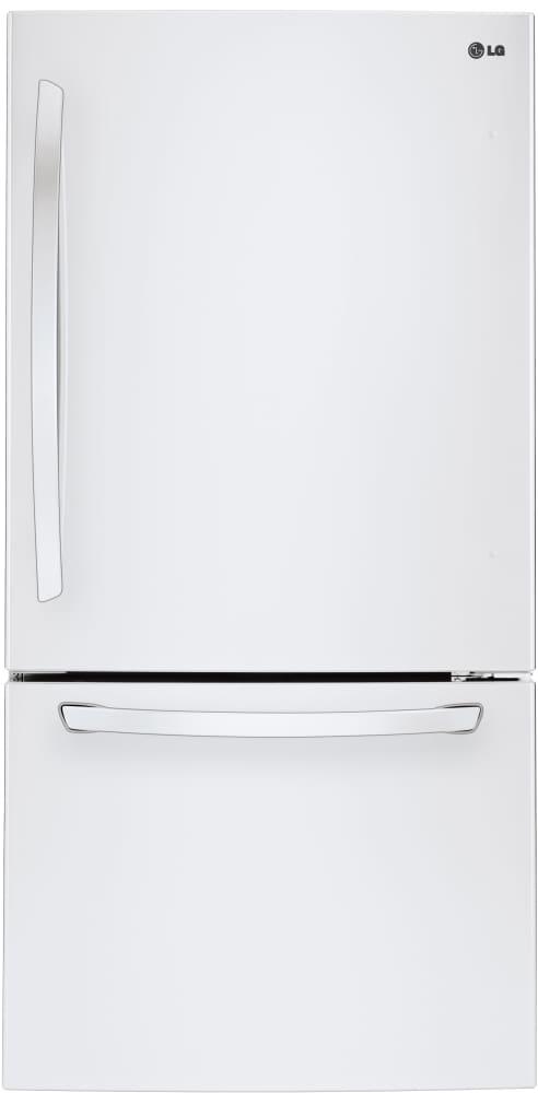 lg ldcs24223w 33 inch bottom freezer refrigerator with linear compressor  ice maker