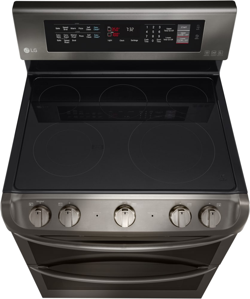 LG LDE4413BD 30 Inch Dual Oven Electric Range with 7.3 cu. ft ...
