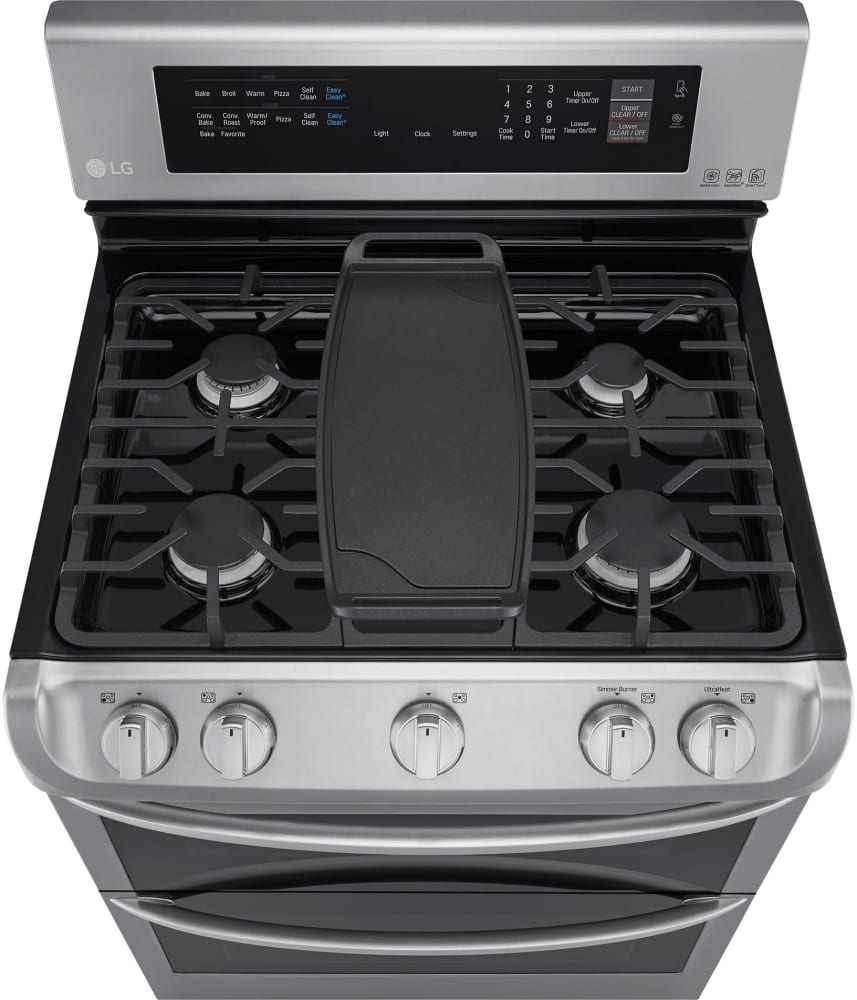 Lg Ldg4315st 30 Inch Double Oven Gas Range With Probake