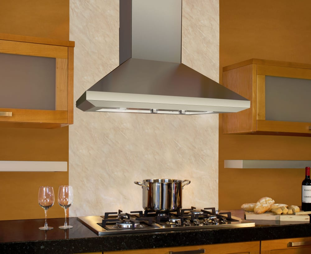 36 Chimney Hood ~ Elica eln ss inch wall mount chimney hood with