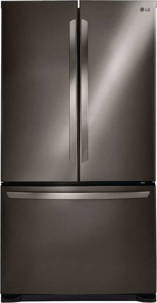 lg refrigerator. lg lfc21776d - 36 inch counter depth refrigerator in black lg