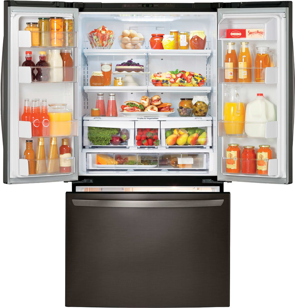 Lg Lfc21776d 36 Inch Counter Depth French Door Refrigerator With