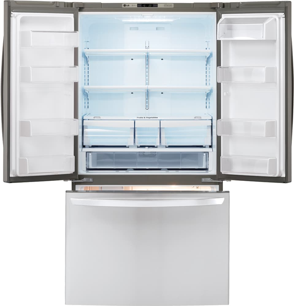 Superbe ... Refrigerator In Stainless Steel LG LFC21776ST   Interior View ...