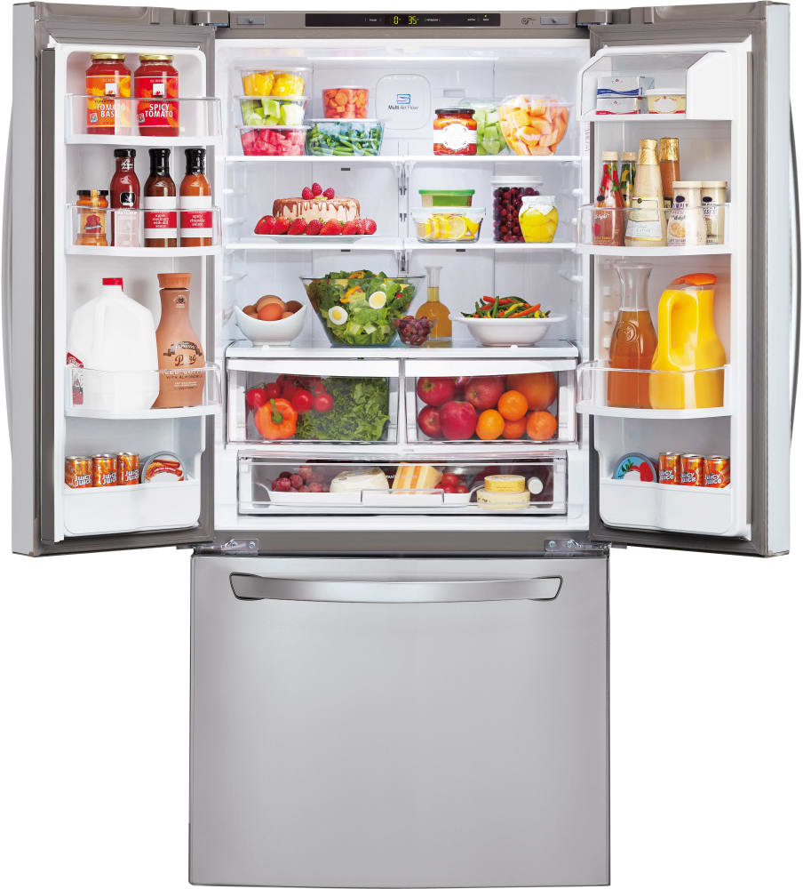 Largest Capacity Refrigerator Lg Lfc24770st 33 Inch French Door Refrigerator With Linear