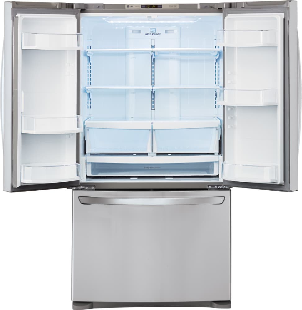 Lg lfc28768st 36 inch french door refrigerator with glide n serve inch french door refrigerator lg lfc28768st interior view eventelaan Images