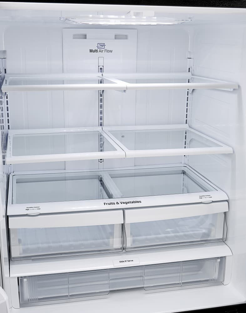 LG LFCS25426D 36 Inch French Door Refrigerator with SpillProtector ...