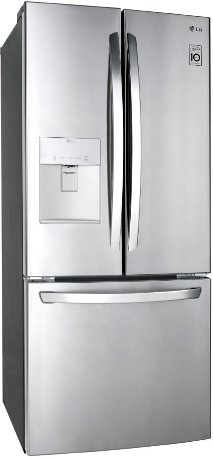lg lfds22520s 30 inch french door refrigerator with 21 8