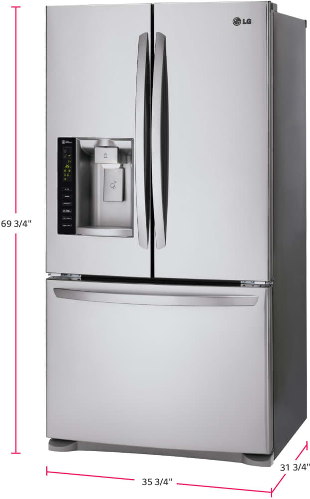 Lg Lfx25974st 36 Inch French Door Refrigerator From