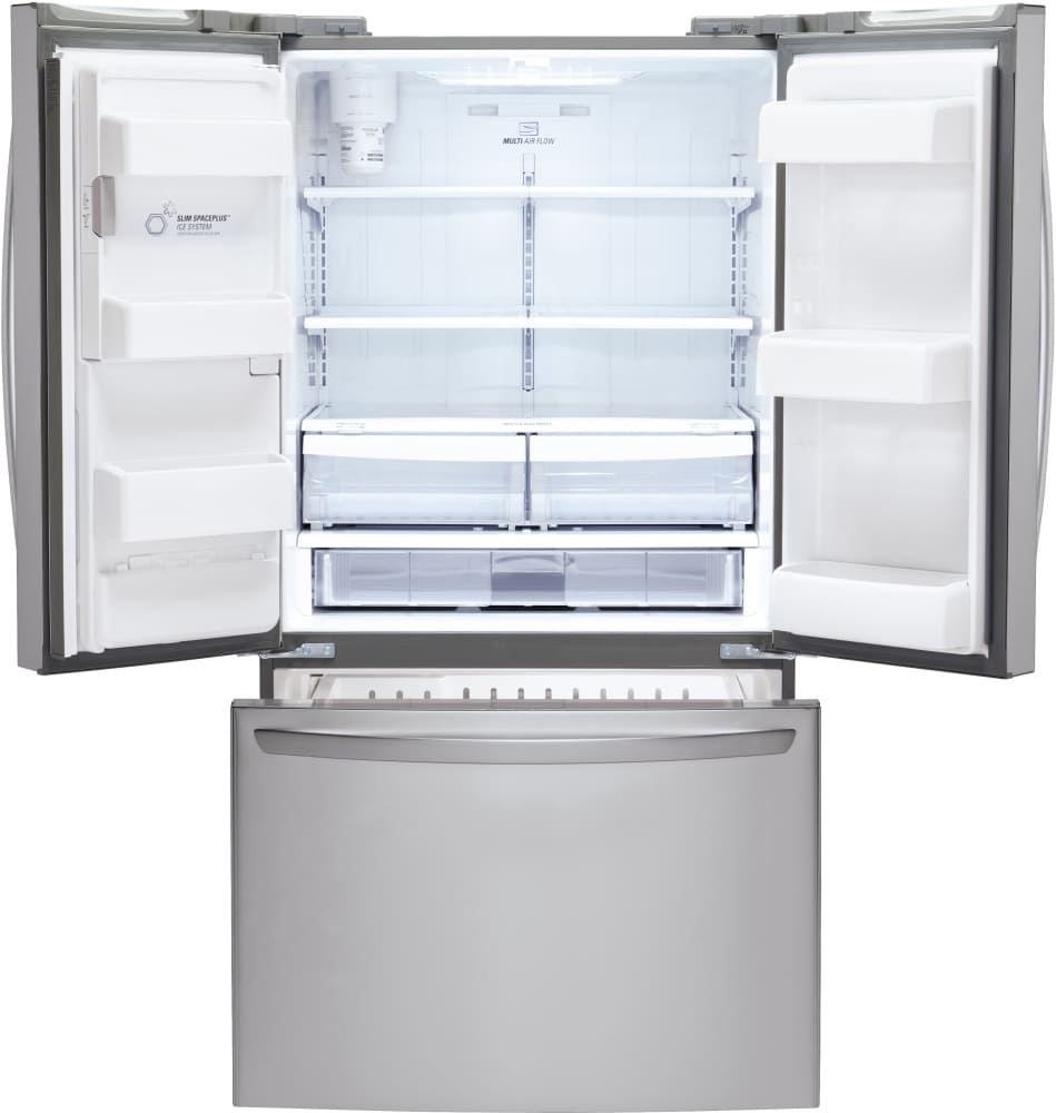refrigerator 69 inches tall. lg lfx25974st 36 inch french door refrigerator with slim spaceplus™ ice system, smart cooling® glide n\u0027 serve® drawer, external tall dispenser, 69 inches