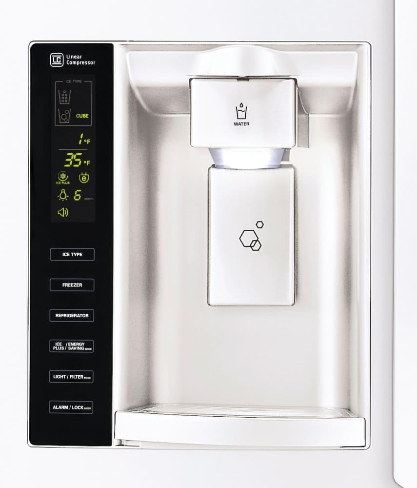 Lg Lfx25974 36 Inch French Door Refrigerator With 24 7 Cu