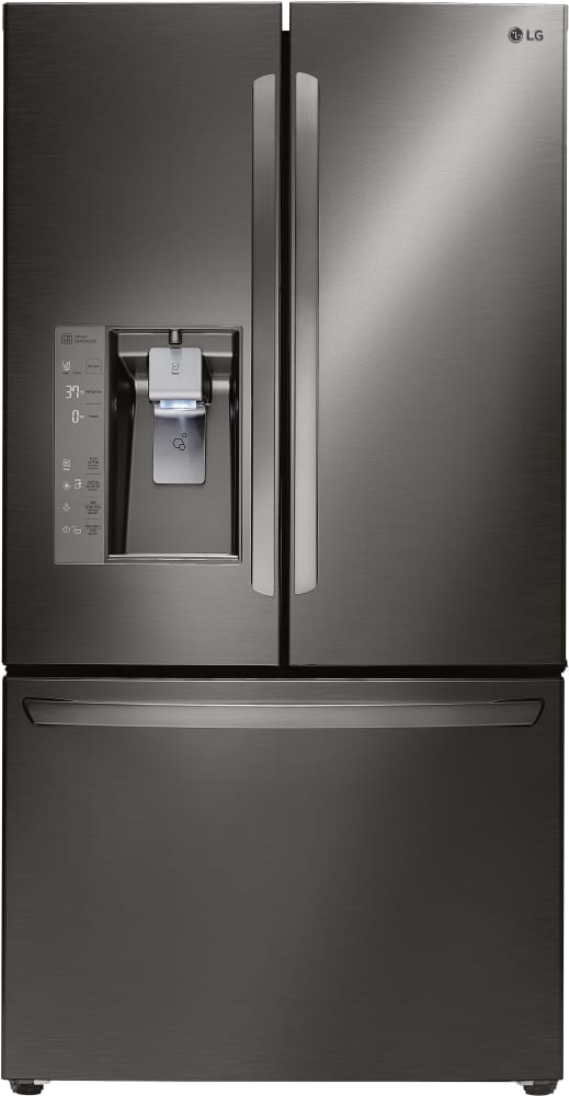 LG LFXC24726D   Counter Depth French Door Refrigerator From LG In Black  Stainless Steel ...