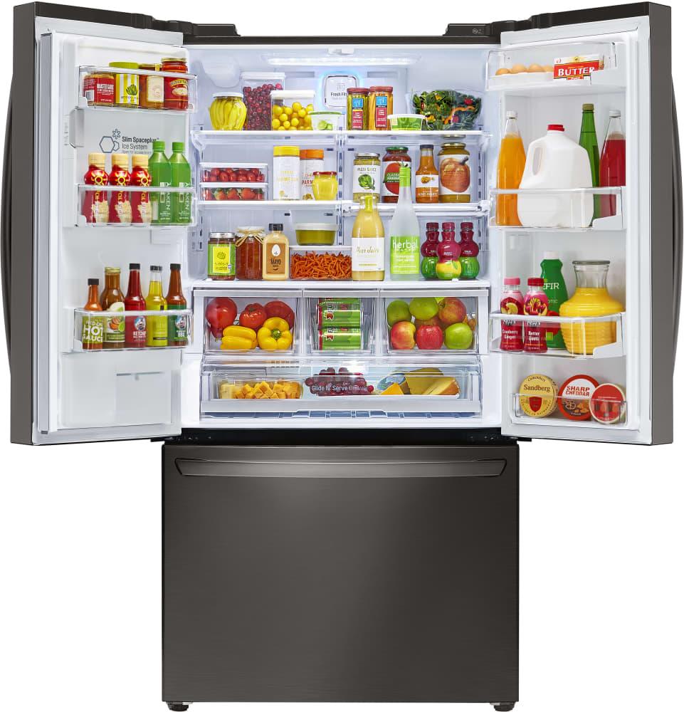 lg french door refrigerator inside. interior lg lfxc24726d - view counter depth french door refrigerator lg inside