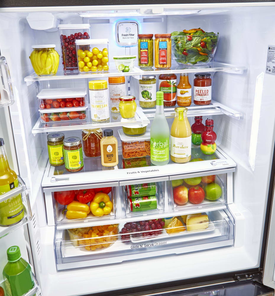 Largest Capacity Refrigerator Lg Lfxc24726s 36 Inch Counter Depth French Door Refrigerator With