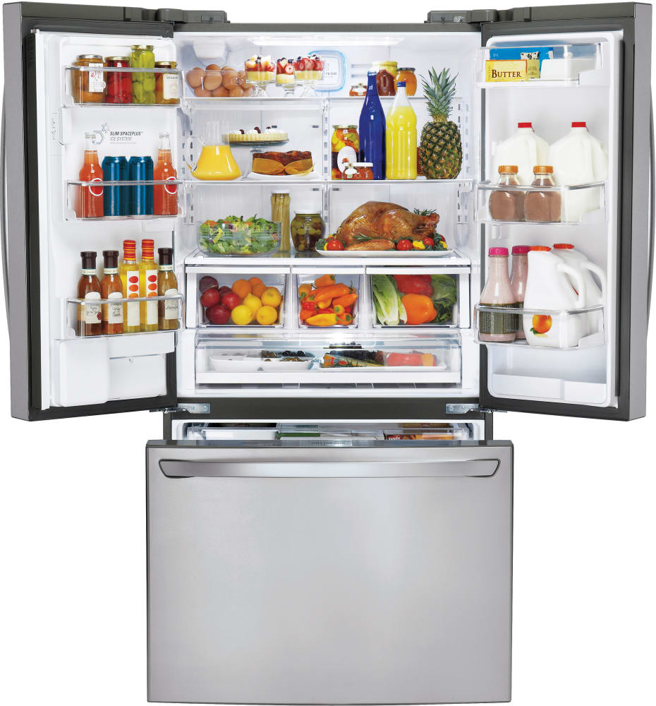 LG LFXC24726S 36 Inch Counter Depth French Door Refrigerator with ...