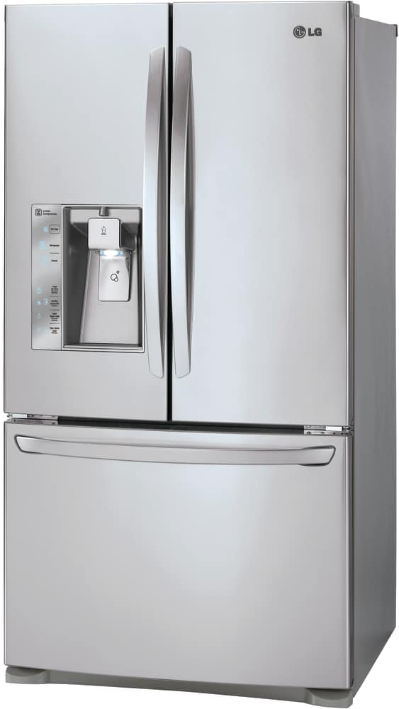 ... LG LFXC24726S   Counter Depth French Door Refrigerator From LG In Black  Stainless Steel ...