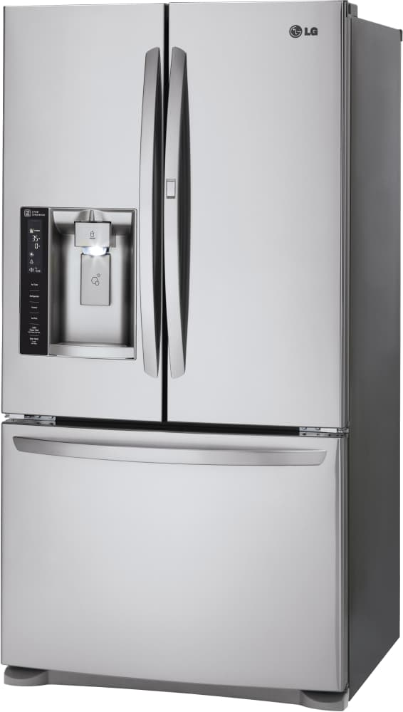 lg lfxs24566s 36 inch french door refrigerator with door in door glide n 39 serve drawer slim. Black Bedroom Furniture Sets. Home Design Ideas
