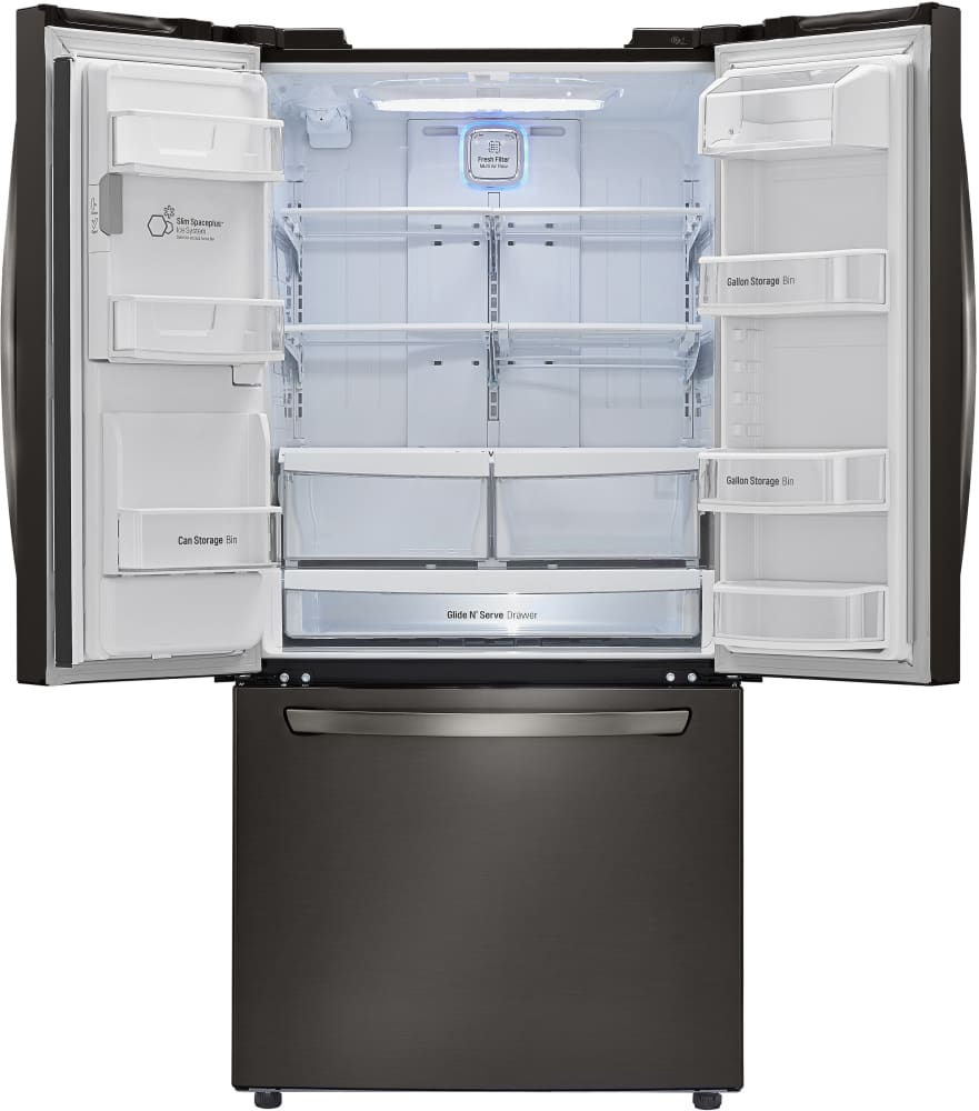 Lg Lfxs24623d 33 Inch French Door Refrigerator With Slim