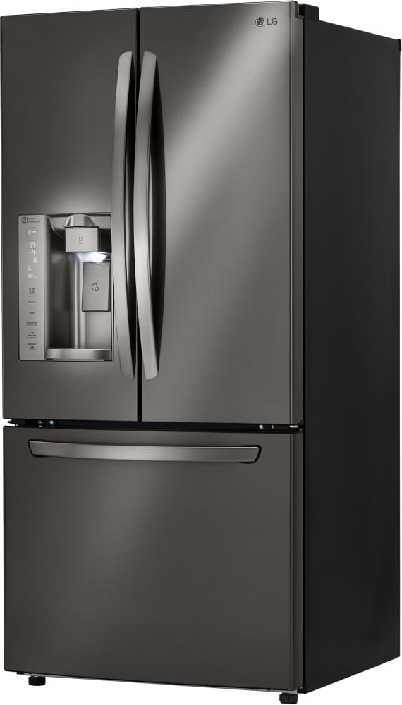 refrigerator black. lg lfxs24623d - 33 inch french door refrigerator from in black stainless steel