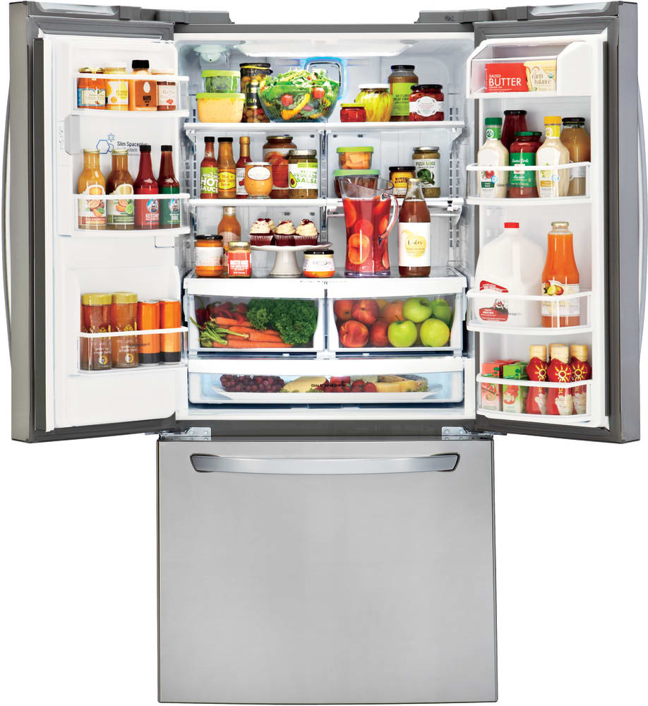 Lg Lfxs24623s 33 Inch French Door Refrigerator With Slim