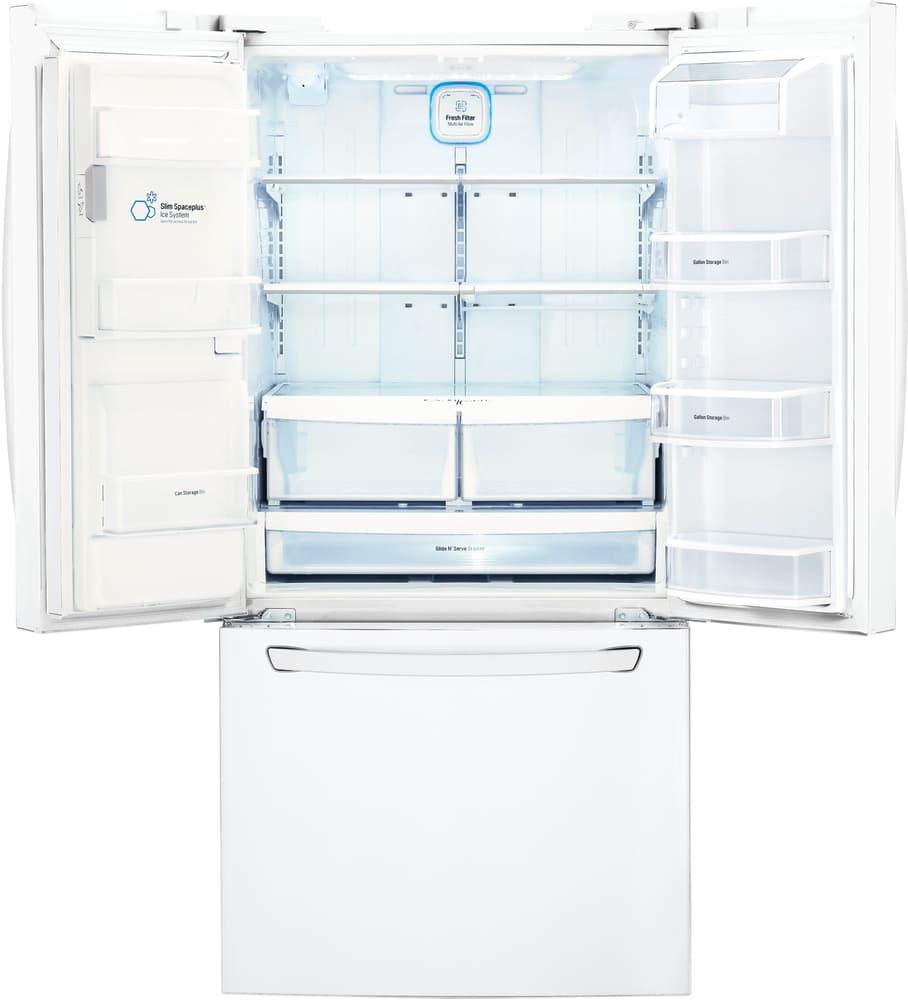 lg refrigerator air filter replacement. lg lfxs24623w - interior view lg refrigerator air filter replacement