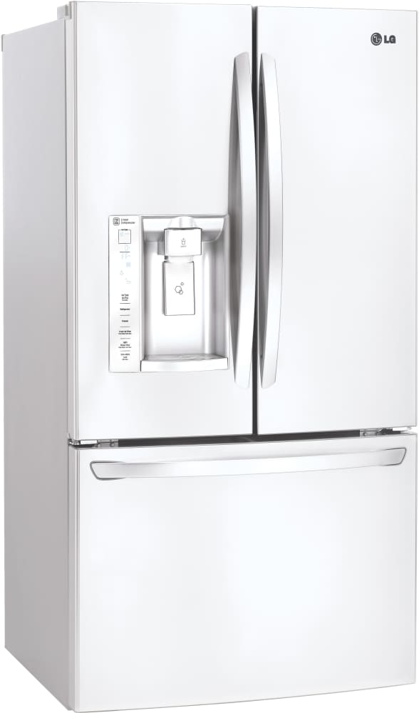 ... LG LFXS24623   33 Inch French Door Refrigerator From LG In White ...