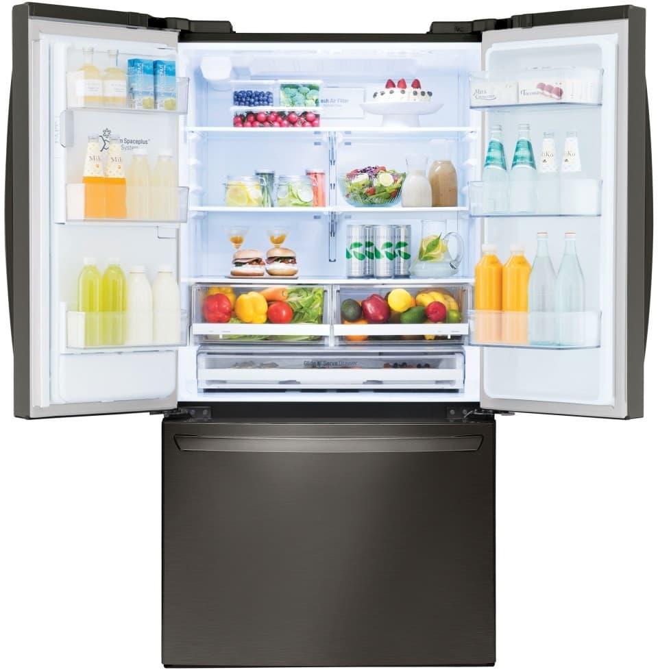 Lg Lfxs26973d 36 Inch French Door Refrigerator With Slim