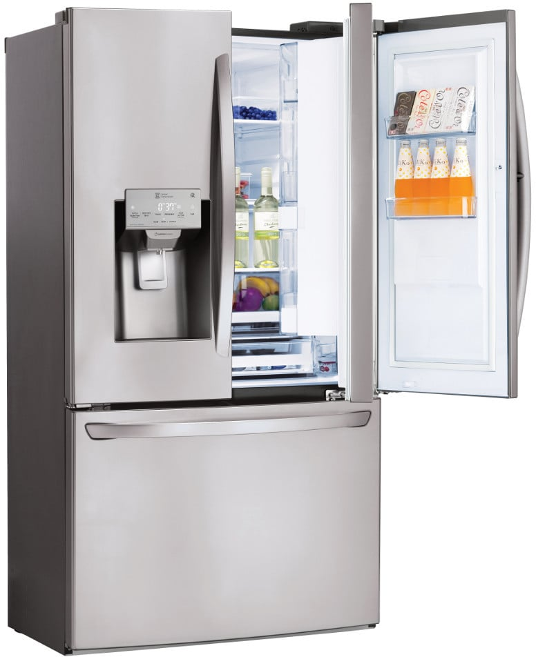 Lg lfxs28566s 36 inch french door refrigerator with door in door lg lfxs28566s stainless steel with door in door with coldsaver panel sciox Image collections