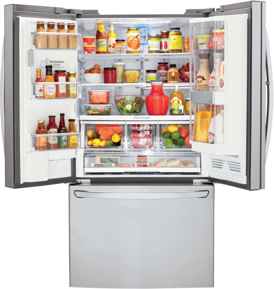 LG LFXS30766S 36 Inch French Door Refrigerator with Door-in-Door ...