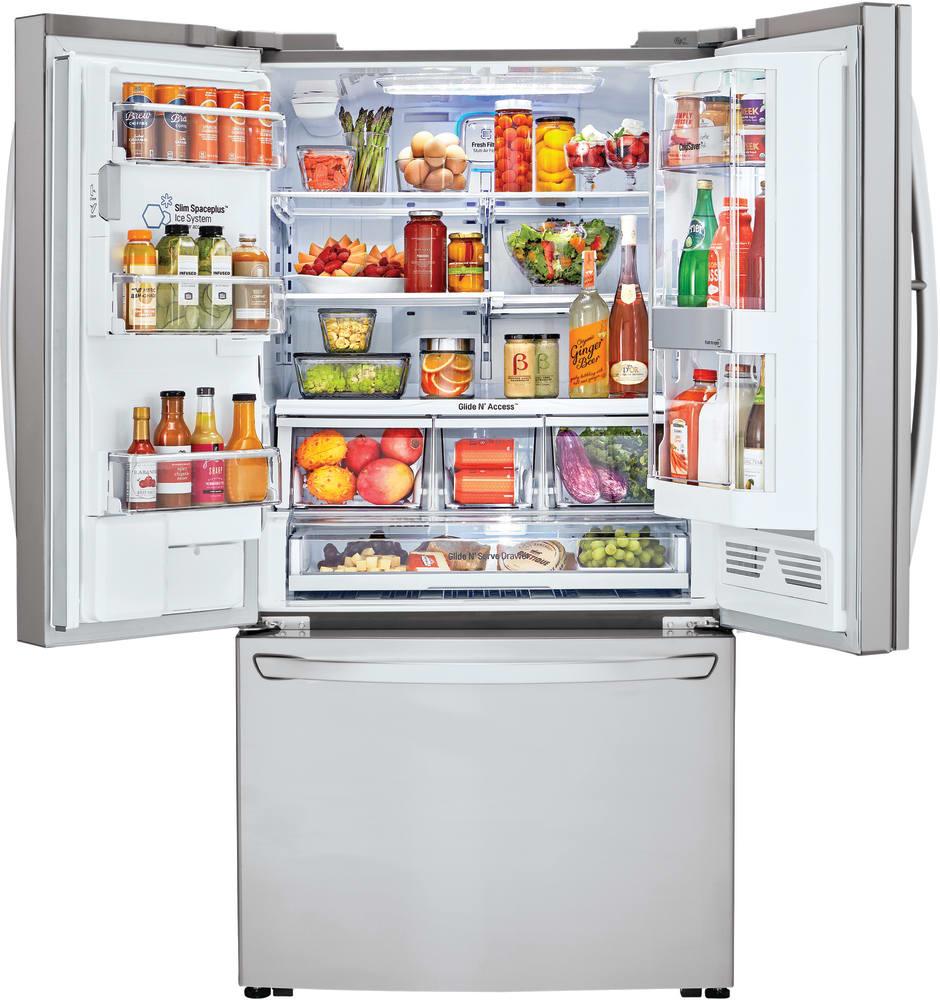 Lg Lfxs30796s 36 Inch French Door Refrigerator With Instaview