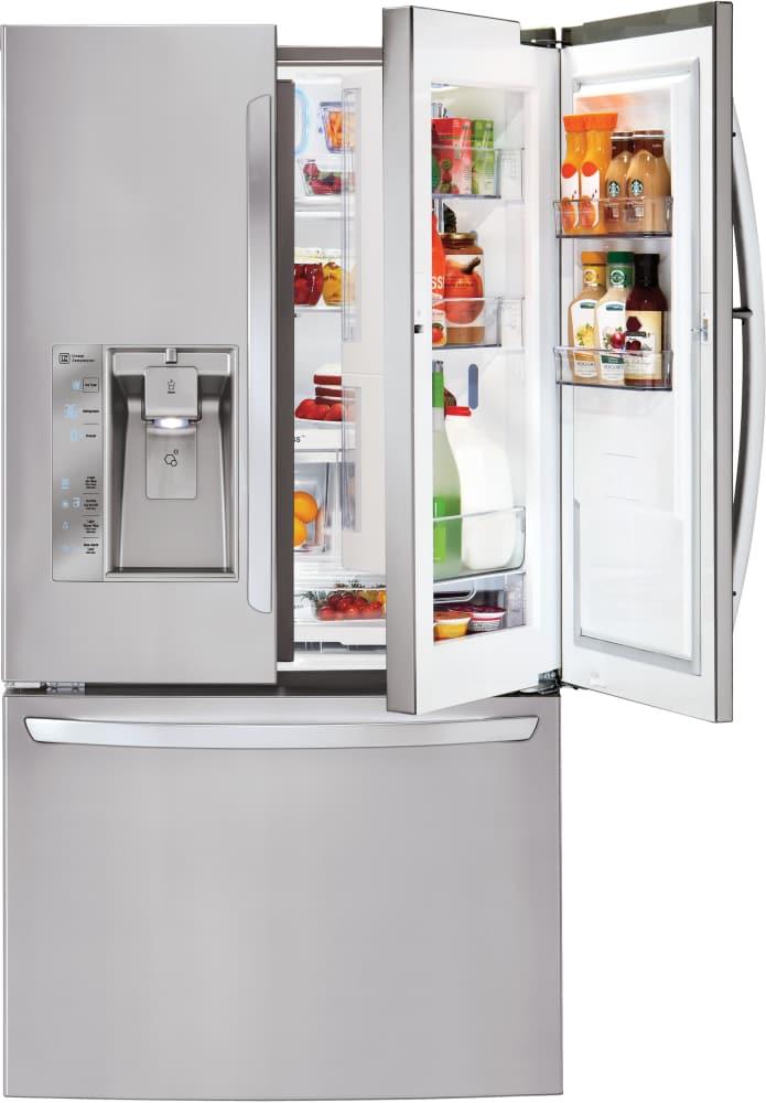lg lfxs32766s 36 inch french door refrigerator with door in door dual evaporators linear. Black Bedroom Furniture Sets. Home Design Ideas