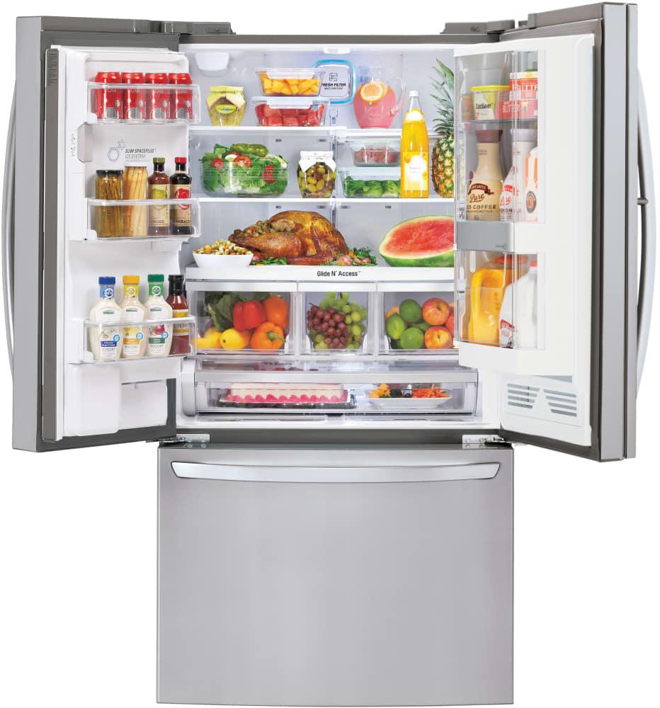 Lg Lfxs32766s 36 Inch French Door Refrigerator With Door