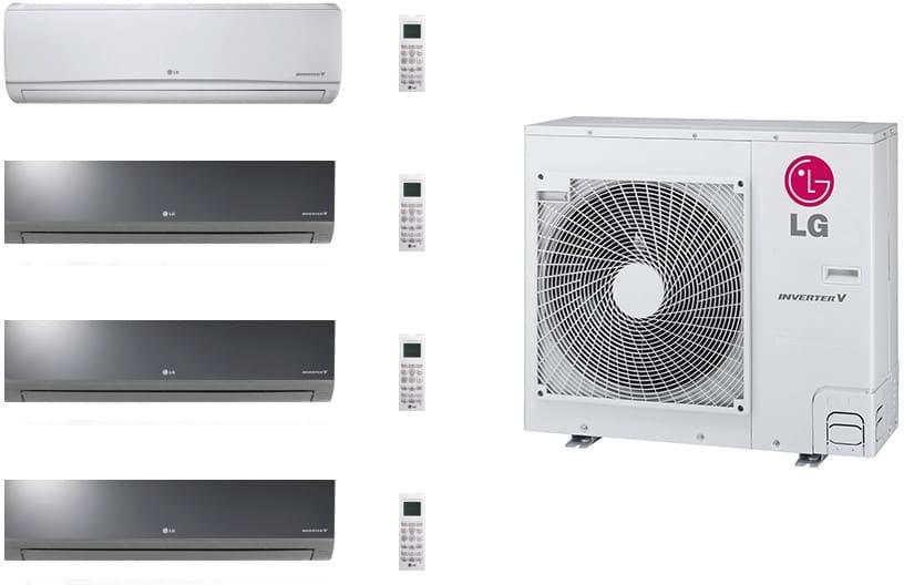Lg Lgacms36kb66 4 Room Mini Split System With Heat Pump
