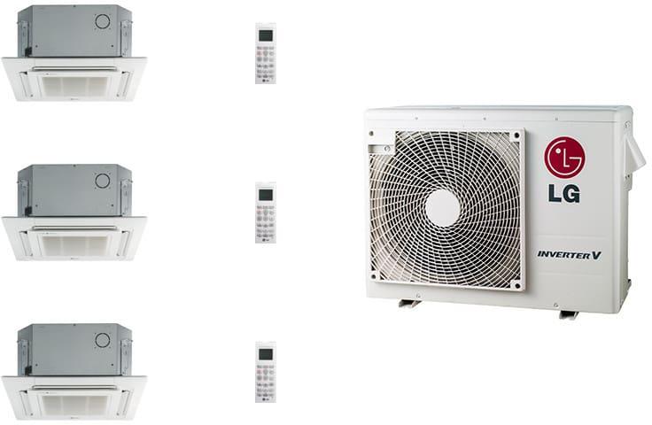 Lg Lg24kb2k56 3 Room Mini Split System With Heat Pump