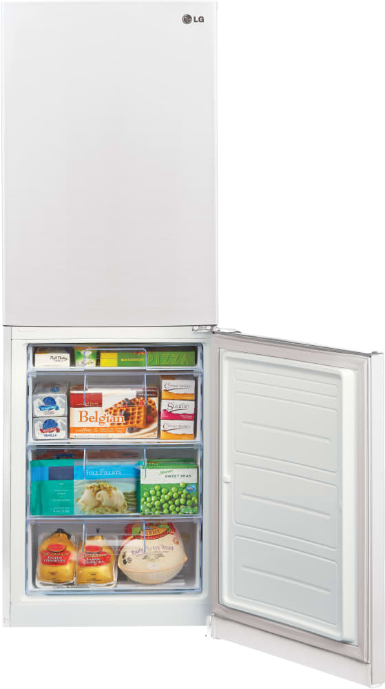 LG LBN10551SW 24 Inch Counter Depth Bottom-Freezer Refrigerator ...