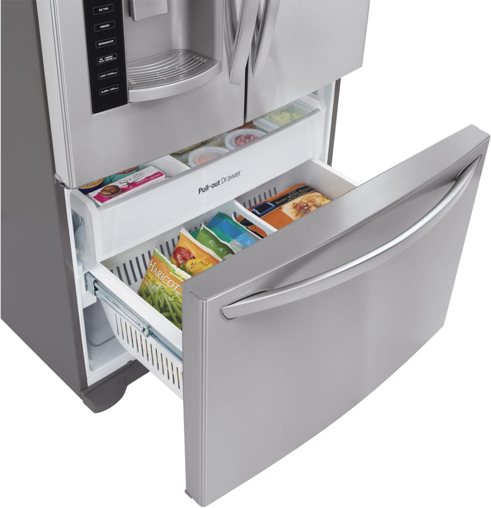 lg lfx21976st 36 inch counter depth french door refrigerator with linear compressor  spaceplus