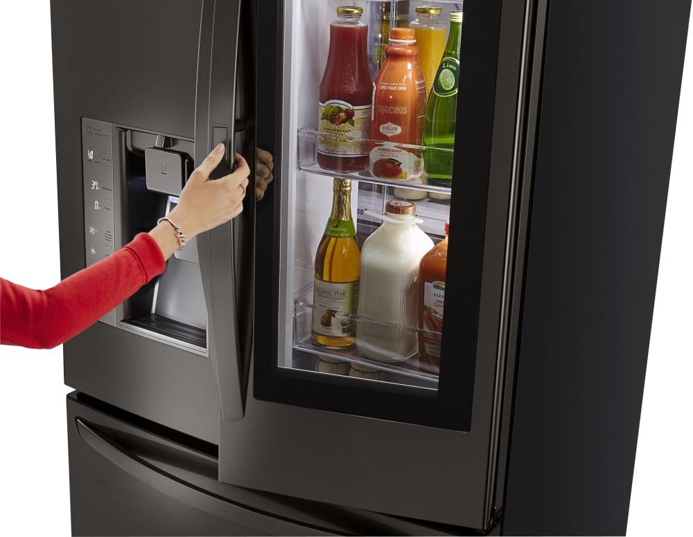 lg lfxs30796 36 inch french door refrigerator with instaview window door in door coldsaver. Black Bedroom Furniture Sets. Home Design Ideas