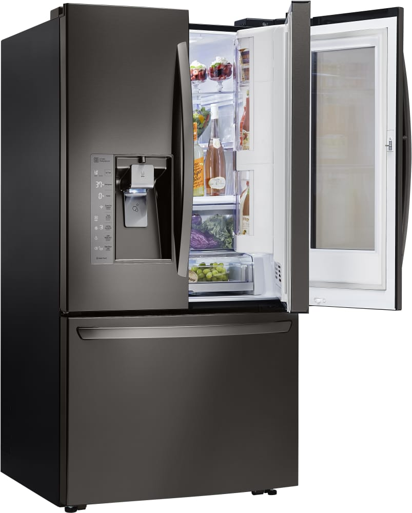 lg lfxs30796 36 inch french door refrigerator with instaview window door in door coldsaver. Black Bedroom Furniture Sets. Home Design Ideas