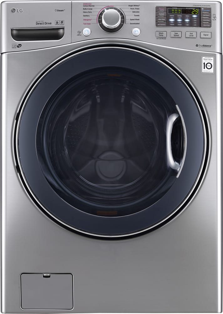 Lg Wm3770hva 27 Inch Front Load Washer With Steam Turbowash