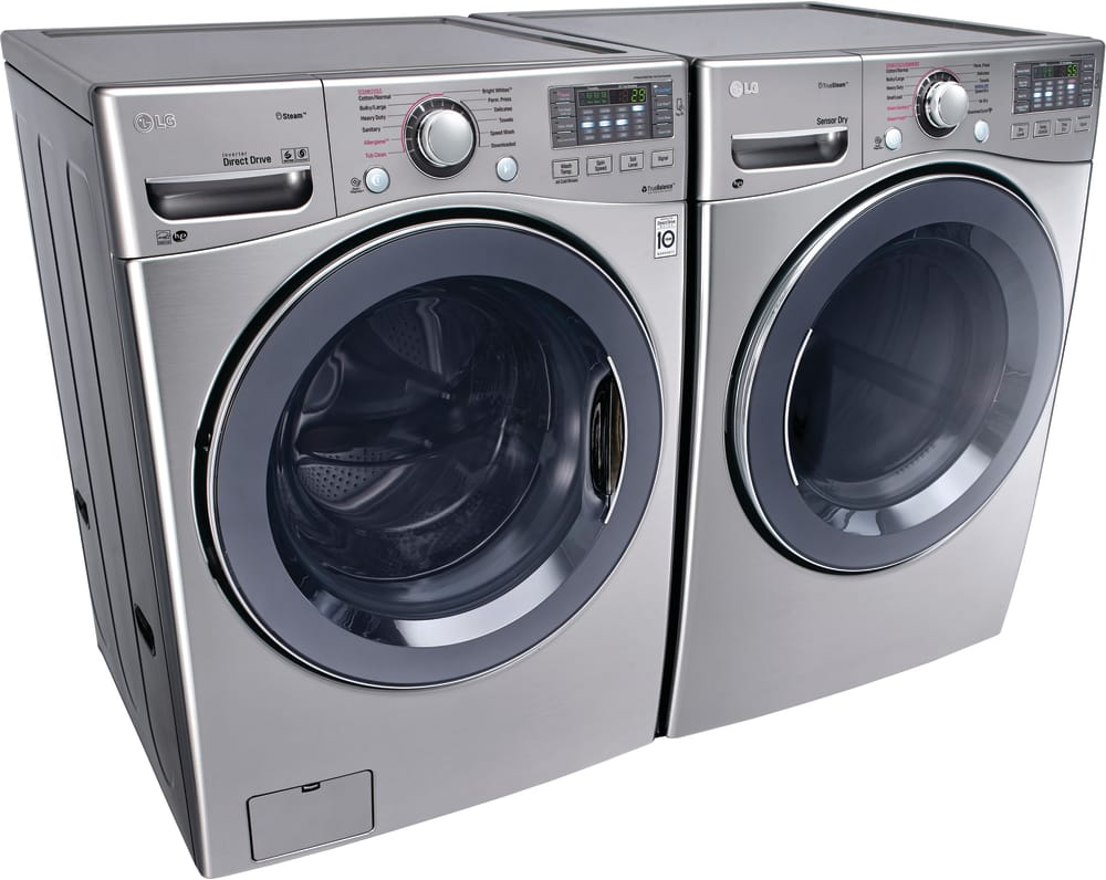 lg washer and dryer. lg wm3770hva - shown with matching dryer lg washer and