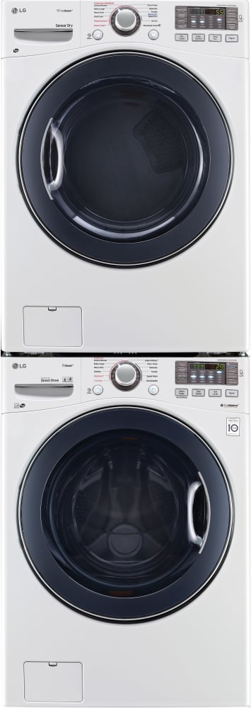 Lg Stackable Washer And Dryer lg lgwadrgw95 stacked washer & dryer set with front load washer