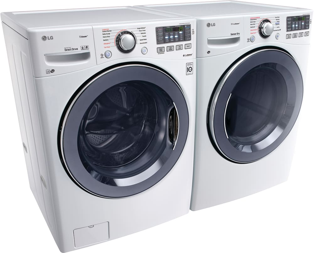 Washer And Dryer ~ Lg wm hwa inch front load washer with steam